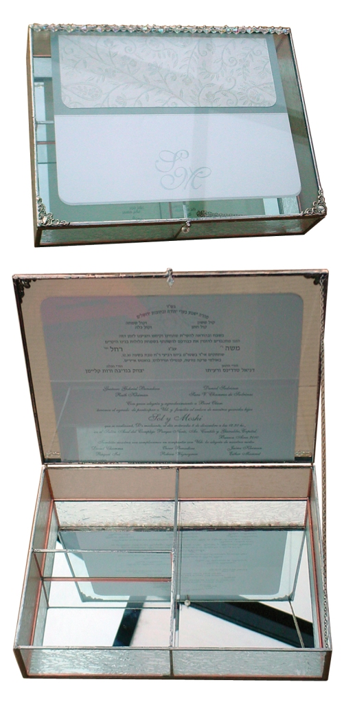 Wedding glass box
