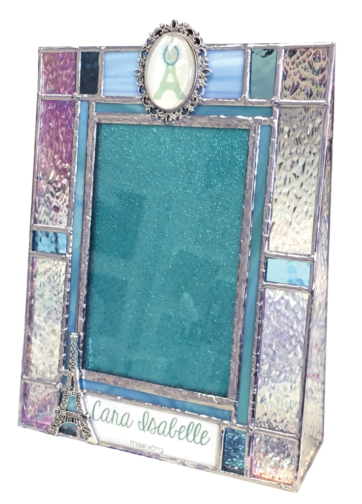 stained glass photo frame by anna harding