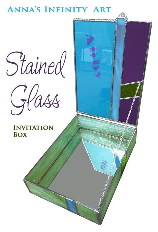 stained glass keepsake box