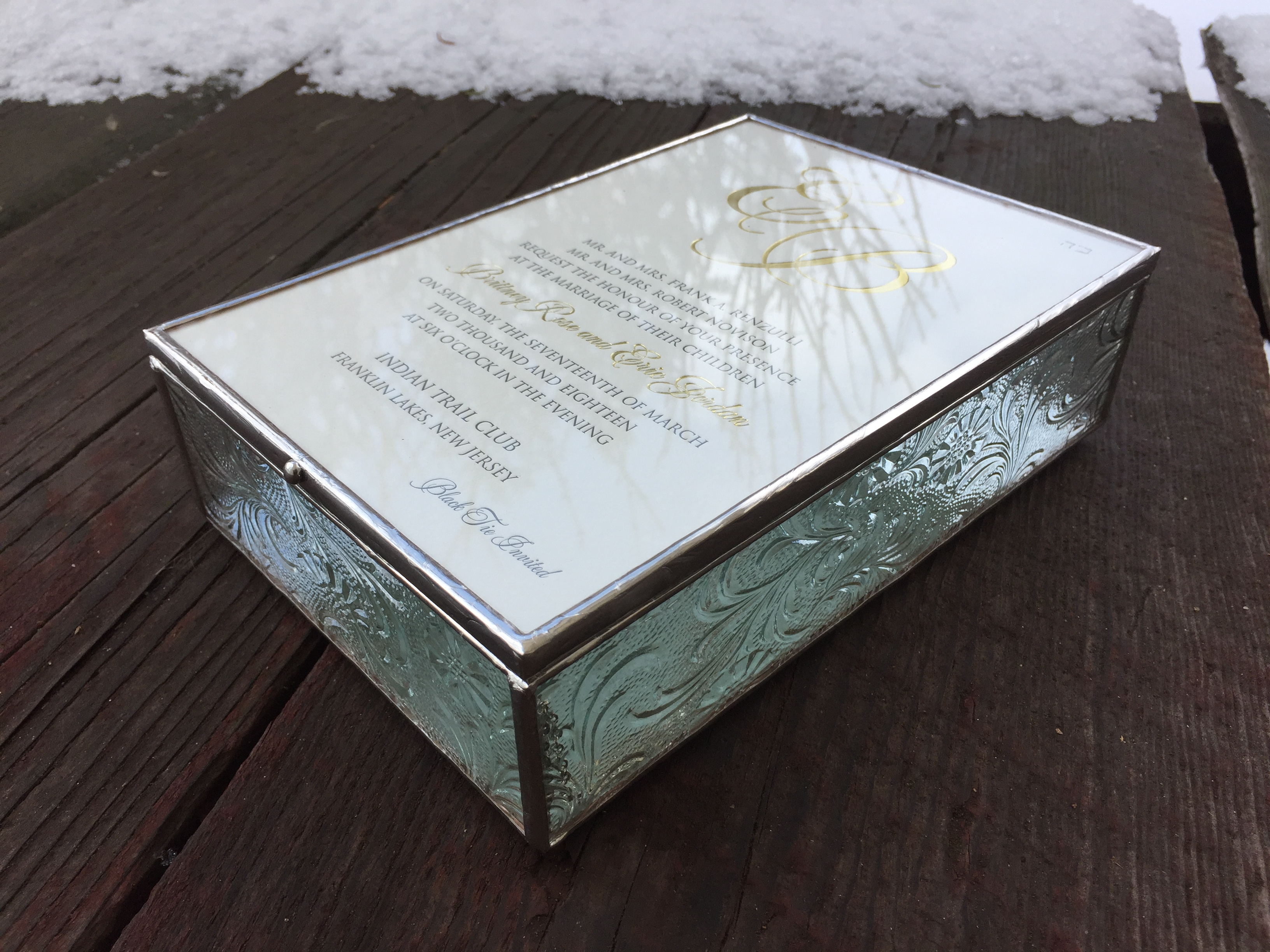 wedding invite box Artist Anna Harding