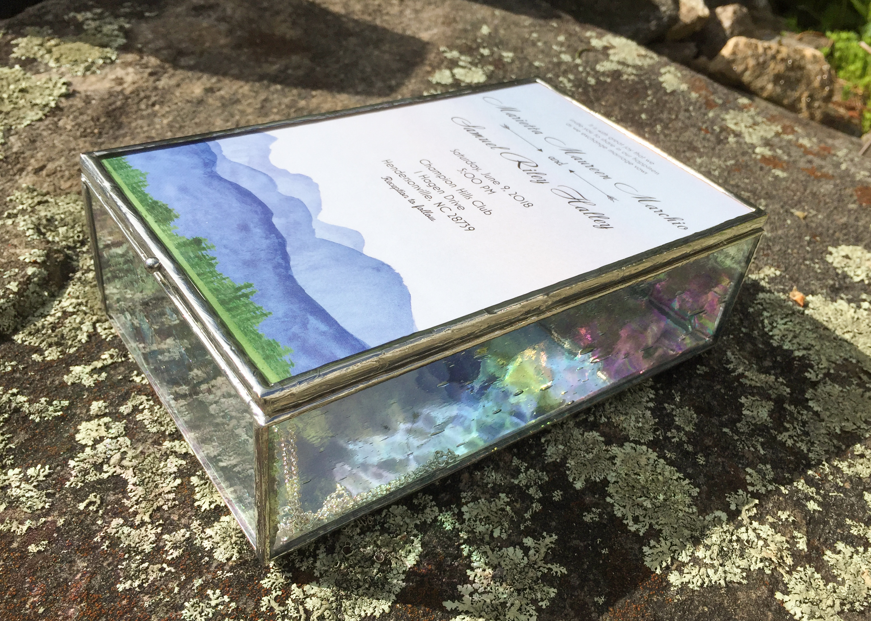 wedding invitation keepsake box
