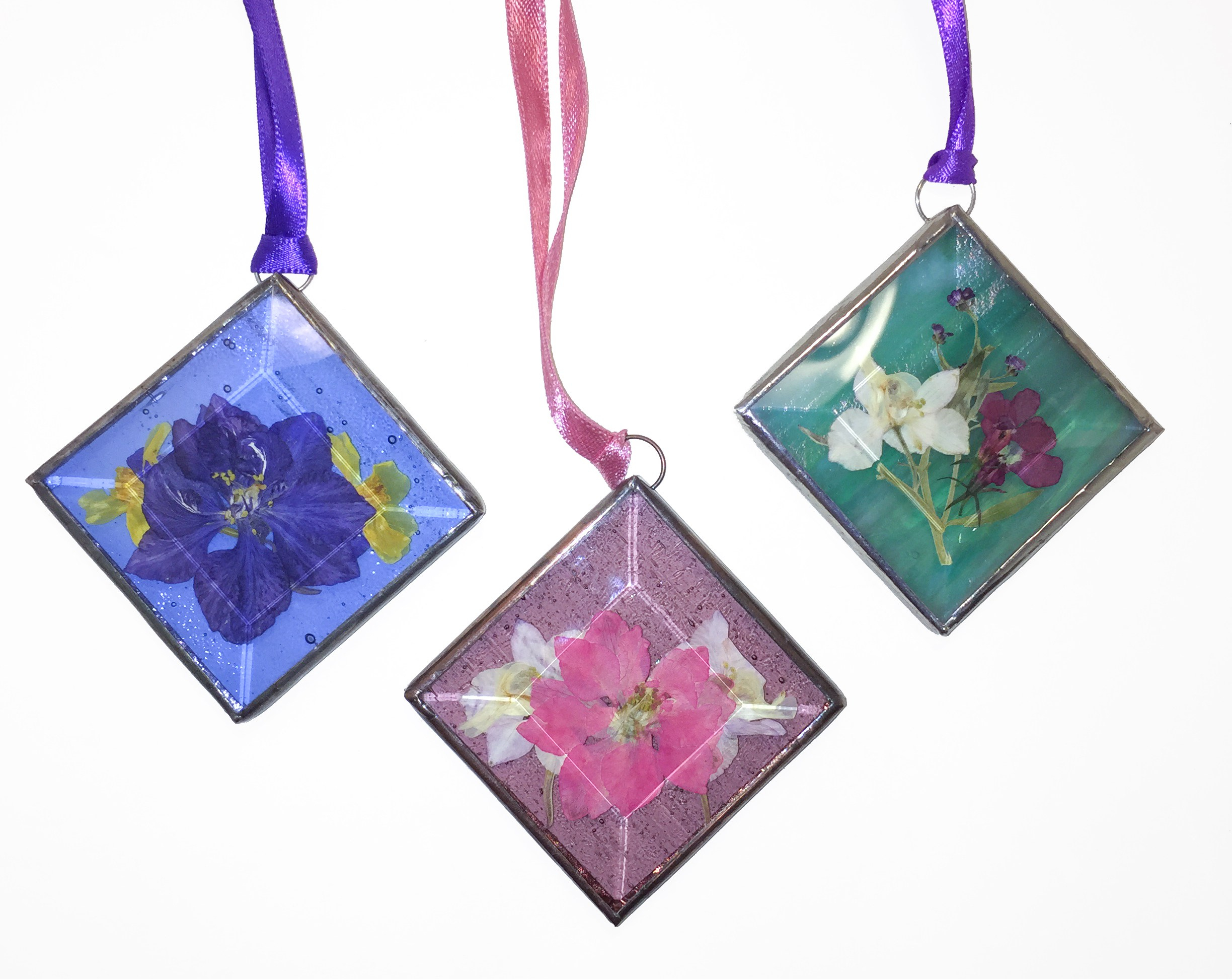 stained glass floral suncatchers